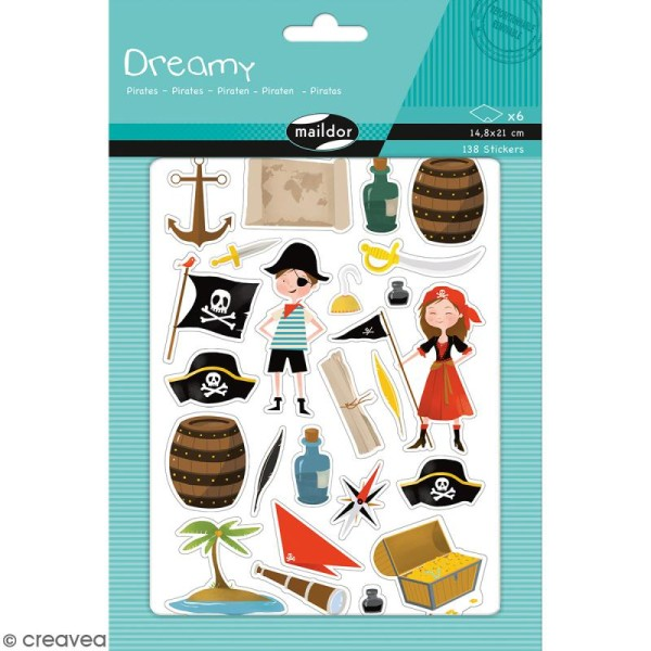 Autocollants Dreamy - Pirates - 138 pcs - Photo n°1