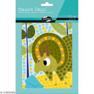 Kit Gommettes Mosaïque Square Déco - Dinosaure