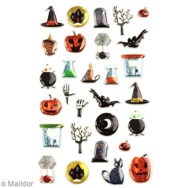 Stickers Fantaisie Cooky - Halloween - 1 planche 7,5 x 12 cm - Photo n°2
