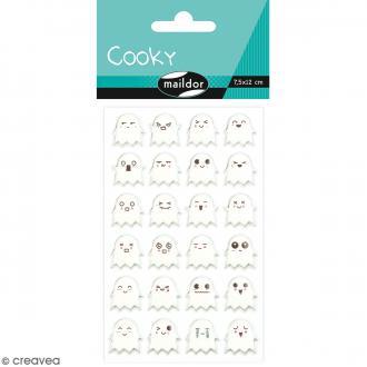 Stickers Fantaisie Cooky - Fantômes - 1 planche 7,5 x 12 cm