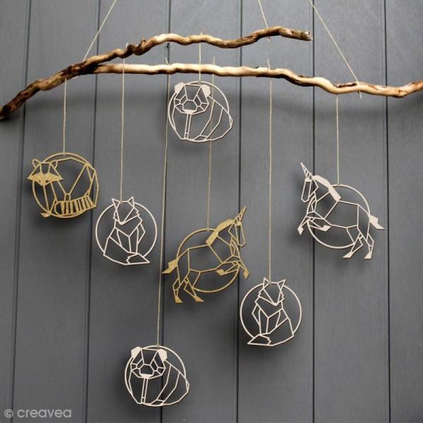 Licorne géométrique en bois à décorer - 9 cm - Photo n°2