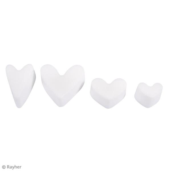 Moule pour savon et béton coeurs - 4 formes - Photo n°3