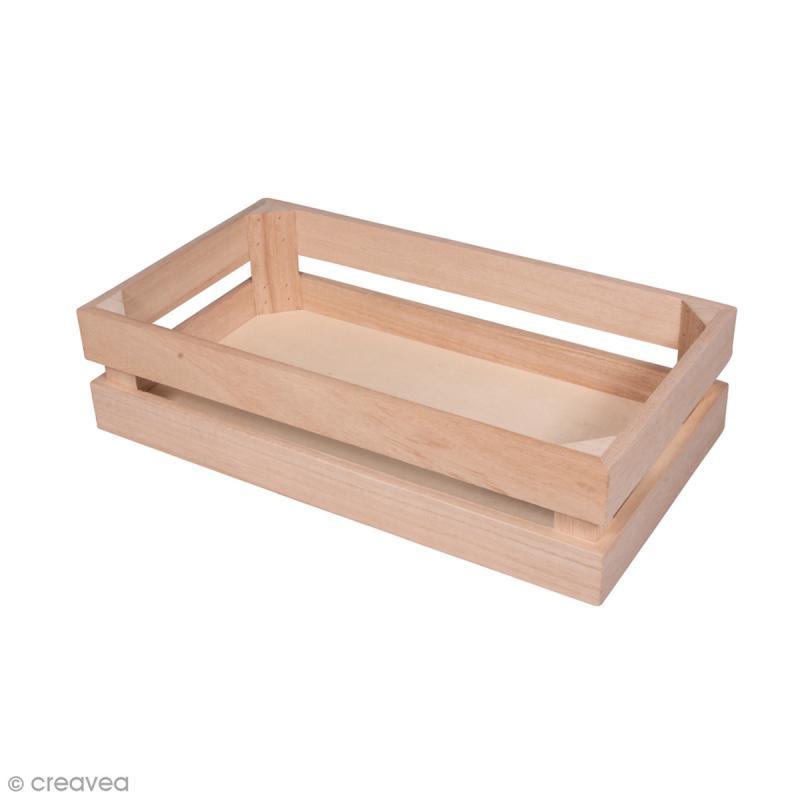 Cagette en bois - 30,5 x 16,7 cm - Photo n°1
