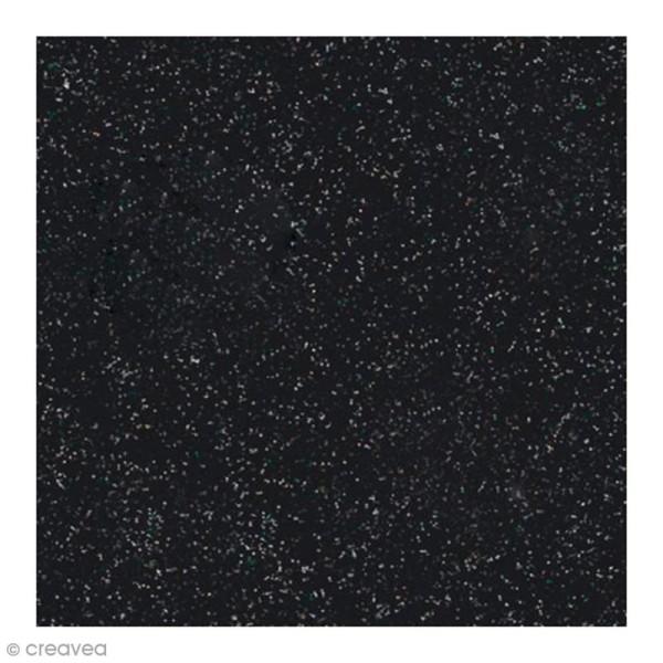Papier Paillettes Noir Scrapbooking 30,5 x 30,5 cm - Photo n°1
