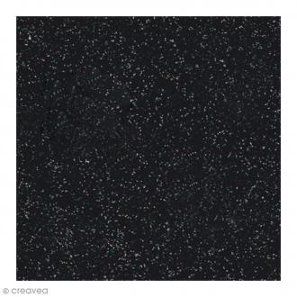 Papier Paillettes Noir Scrapbooking 30,5 x 30,5 cm