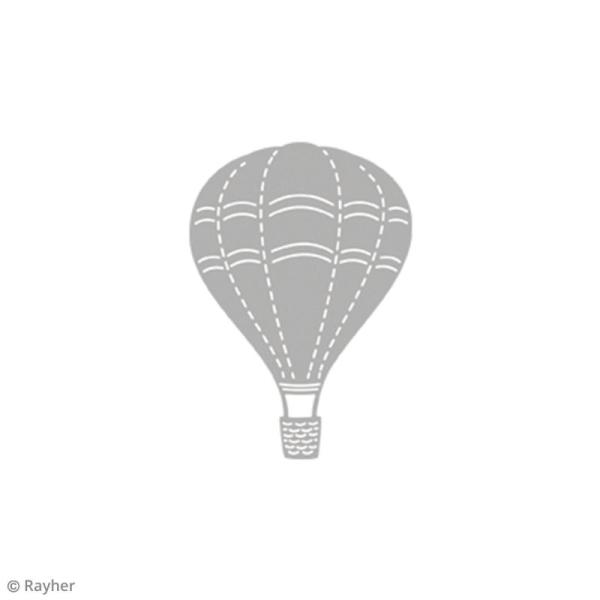 Matrice de découpe Montgolfière - 8 x 5,5 cm - Photo n°2
