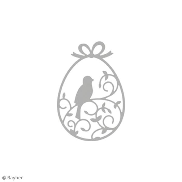 Matrice de découpe Ornement oiseau oeuf - 8,3 x 5,6 cm - Photo n°2