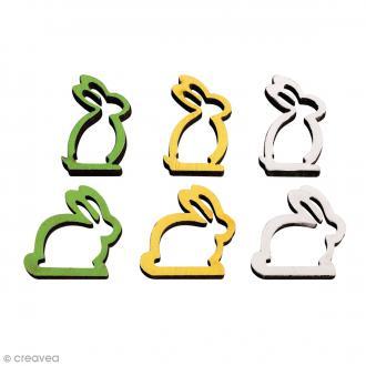 Set de miniatures en bois - Lapin - 10 pcs environ