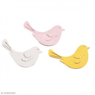 Set de miniatures en bois - Oiseaux - 10 pcs environ