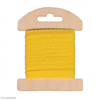 Ruban en coton Jaune - 1 cm x 3 m