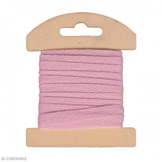 Ruban en coton Rose clair - 1 cm x 3 m