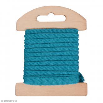 Ruban en coton Bleu - 1 cm x 3 m