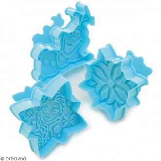 Découpoirs éjecteurs Reine des Neiges pour biscuits - 3 pcs