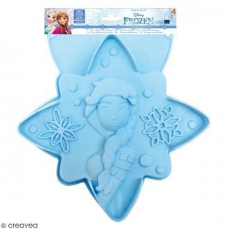 Moule silicone pour gâteau Reine des Neiges - 27 x 28 cm