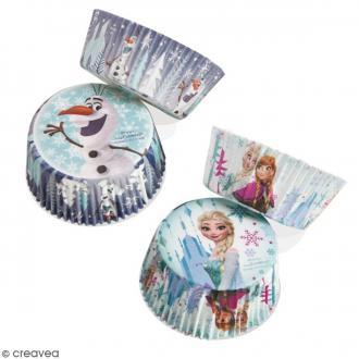 Caissettes cupcakes Reine des Neiges - env 30 pcs