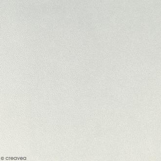 Feuille simili cuir - Argenté - 30 x 30 cm
