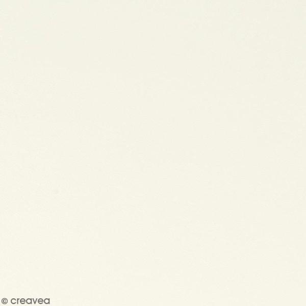 Feuille simili cuir - Blanc - 30 x 30 cm - Photo n°1