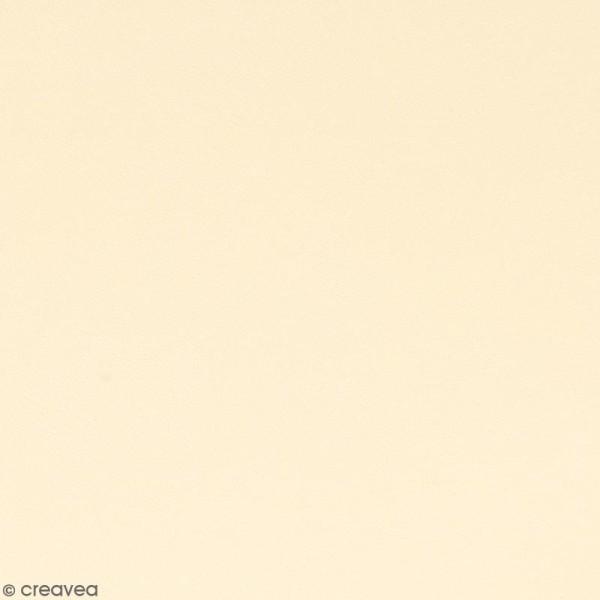 Feuille simili cuir - Crème - 30 x 30 cm - Photo n°1