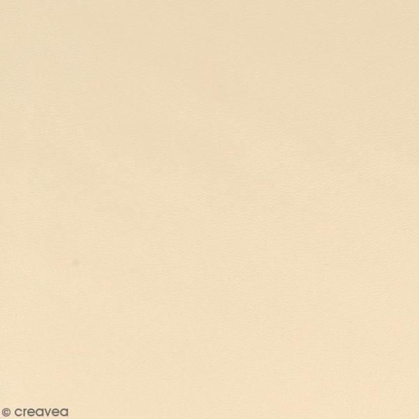 Feuille simili cuir - Beige - 30 x 30 cm - Photo n°1
