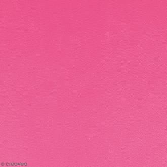 Feuille simili cuir - Rose fuchsia - 30 x 30 cm