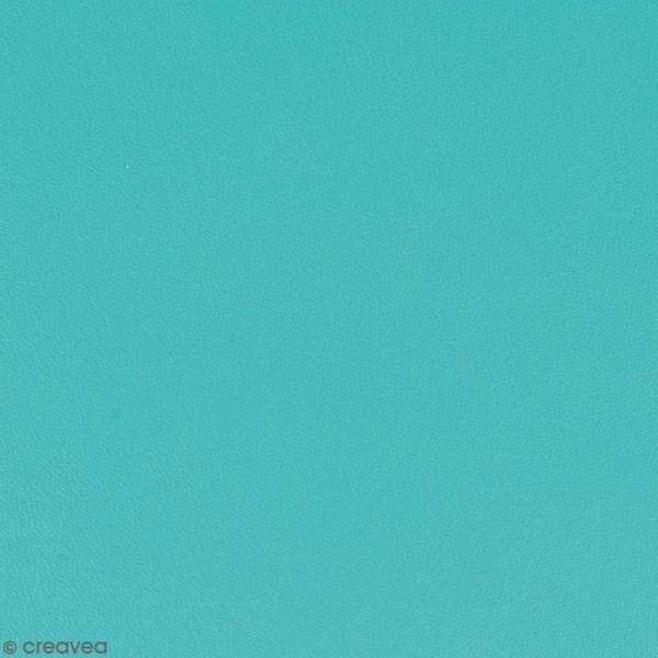 Feuille simili cuir - Bleu turquoise - 30 x 30 cm - Photo n°1