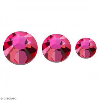 Strass pierres à coller - 3 tailles - Rose - 150 pcs environ