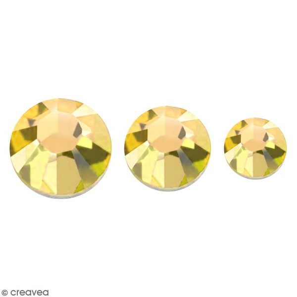Strass pierres à coller - 3 tailles - Doré - 150 pcs environ - Photo n°1
