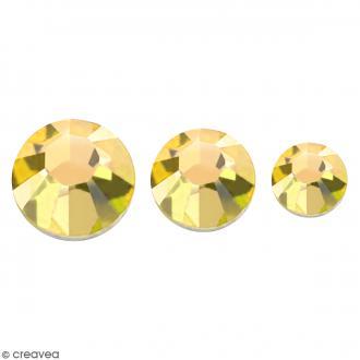 Strass pierres à coller - 3 tailles - Doré - 150 pcs environ
