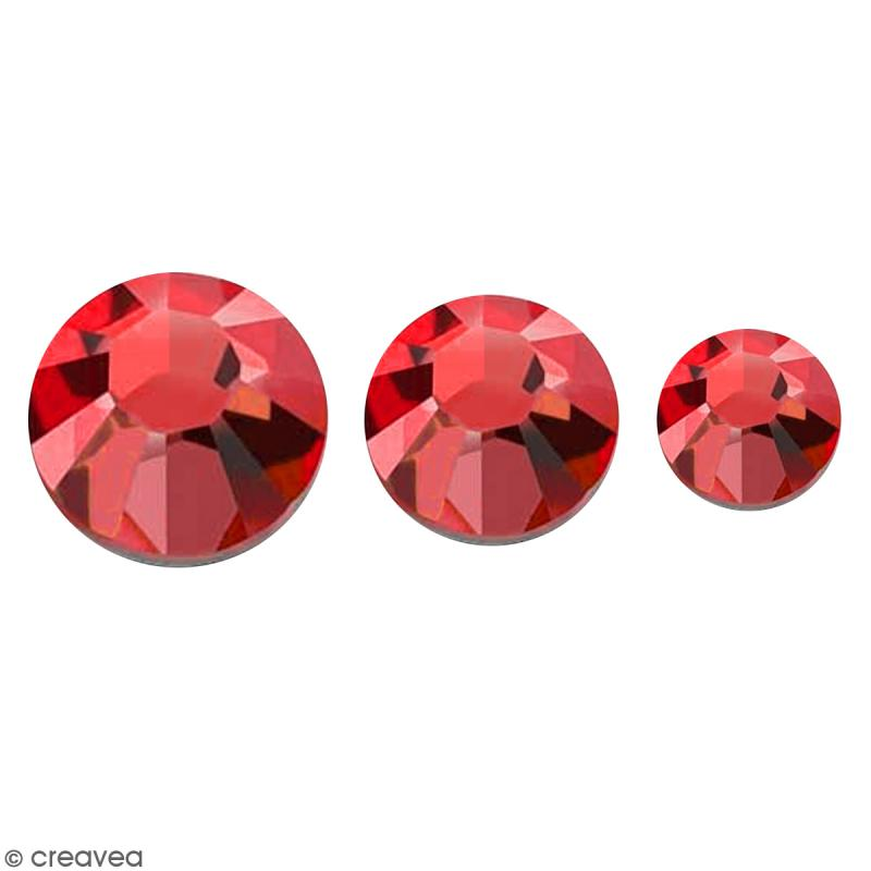 Strass pierres à coller - 3 tailles - Rouge - 150 pcs environ - Photo n°1