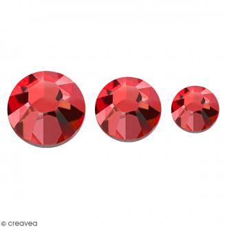 Strass pierres à coller - 3 tailles - Rouge - 150 pcs environ