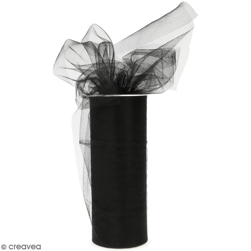 Rouleau de Tulle - Noir - 15 x 2300 cm - Photo n°1