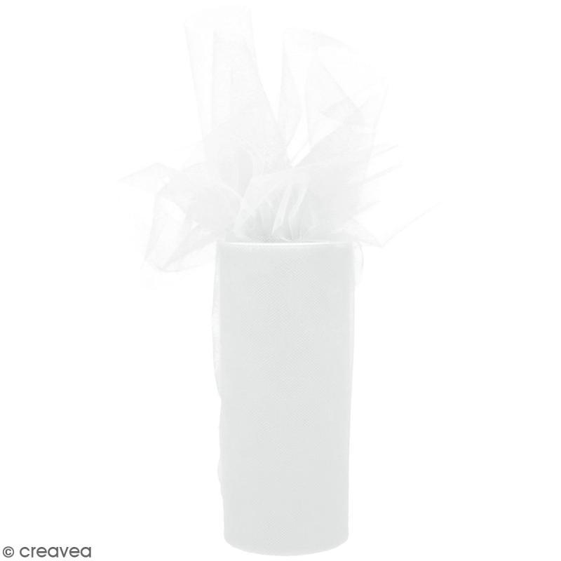 Rouleau de Tulle - Blanc - 15 x 2300 cm - Photo n°1