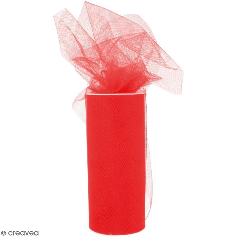 Rouleau de Tulle - Rouge - 15 x 2300 cm - Photo n°1