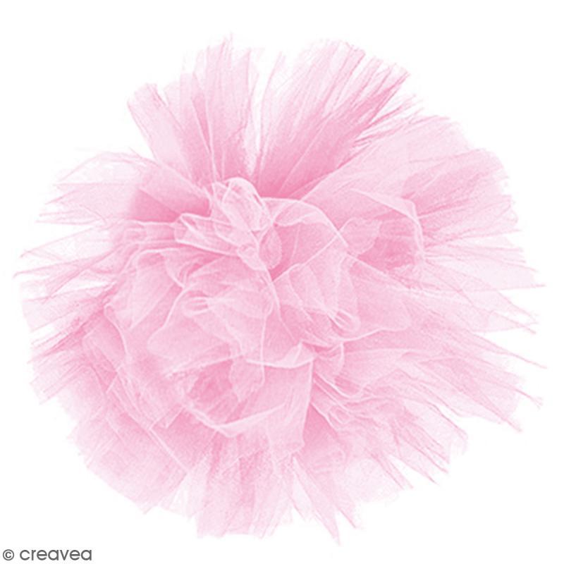 Rouleau de Tulle - Rose pâle - 15 x 2300 cm - Photo n°2