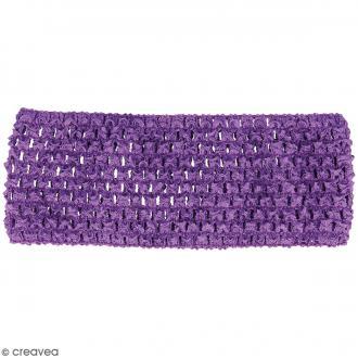 Ceinture crochetée - 7 x 21 cm - Violet