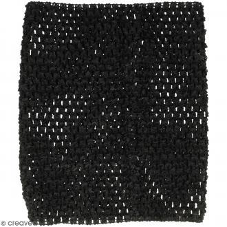 Corsage crocheté - 23 x 21 cm - Noir