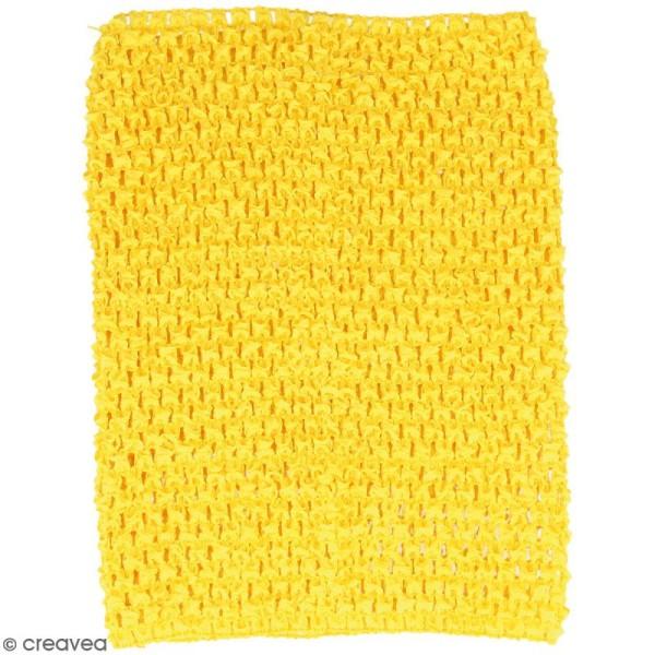 Corsage crocheté - 23 x 21 cm - Jaune - Photo n°1