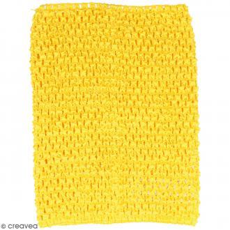 Corsage crocheté - 23 x 21 cm - Jaune