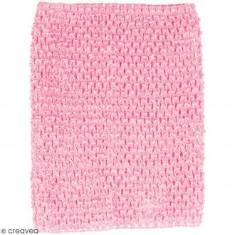 Corsage crocheté - 23 x 21 cm - Rose