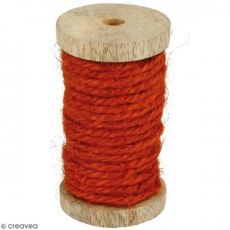 Corde naturelle - Orange - 4 mm x 6 m