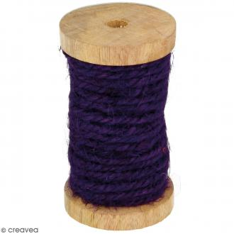 Corde naturelle - Violet - 4 mm x 6 m