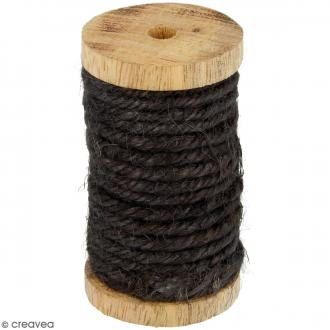 Corde naturelle - Marron gris - 4 mm x 6 m