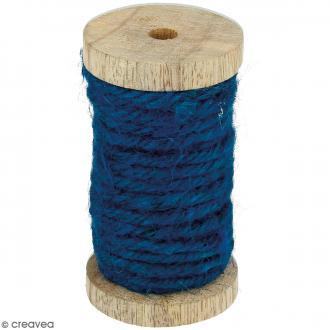 Corde naturelle - Bleu canard - 4 mm x 6 m