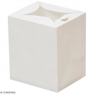 Lanterne en papier non inflammable - Blanc - 14 x 12 cm