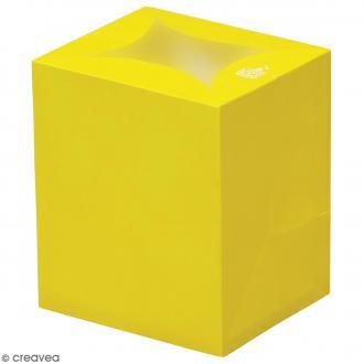 Lanterne en papier non inflammable - Jaune