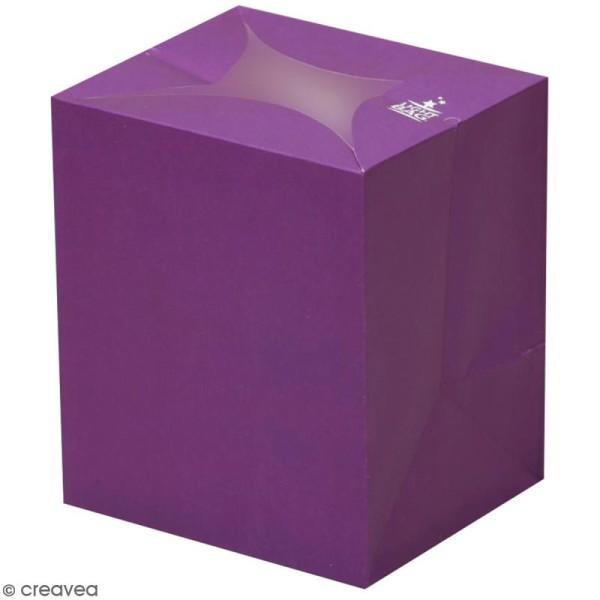 Lanterne en papier non inflammable - Violet - Photo n°1