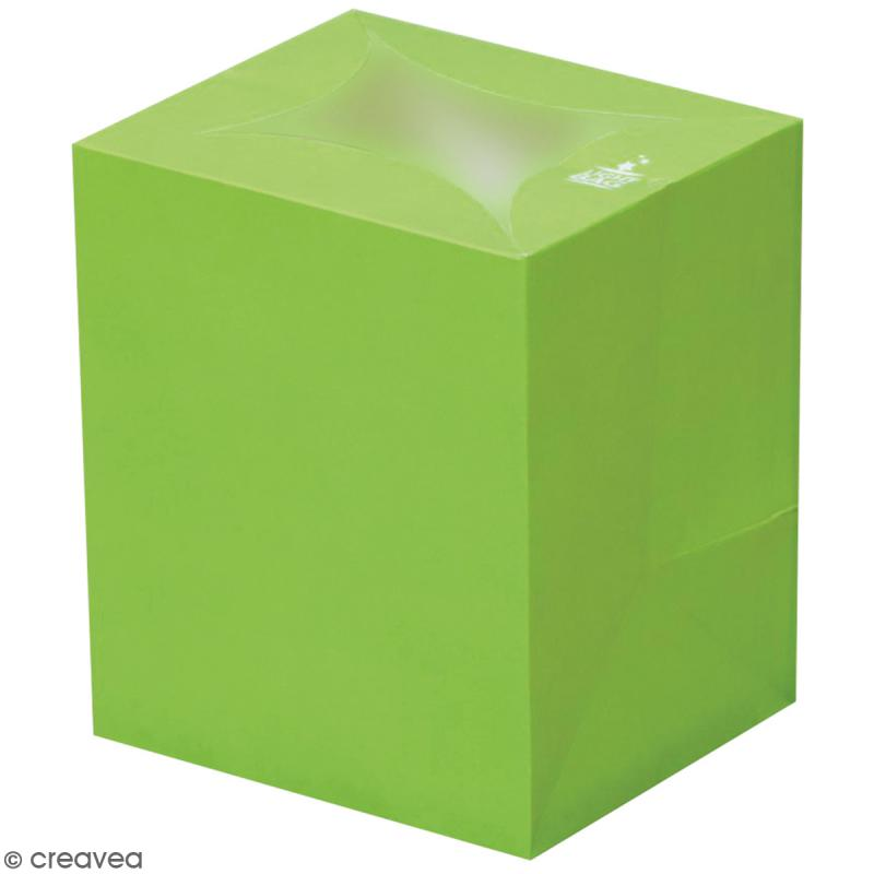 Lanterne en papier non inflammable - Vert - Photo n°1