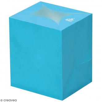 Lanterne en papier non inflammable - Bleu Turquoise