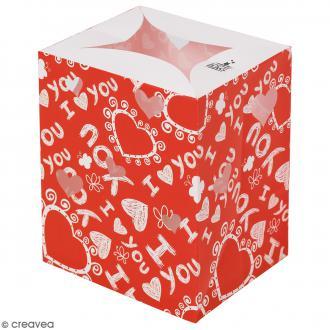 Lanterne en papier non inflammable - I love you