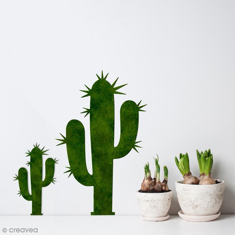 Cactus en bois à décorer - 15 cm - Photo n°2